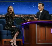 Emma Roberts visits Stephen Colbert