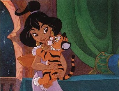 Jasmine Girl Kid Dressed As Princesses Holding Magic Lamp