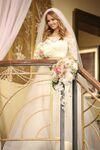 Jessie con su vestido de boda