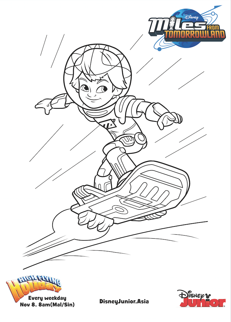 Disney Junior Coloring Pages Miles From Tomorrowland | Coloring Pages