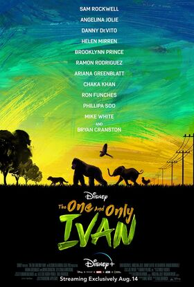 The One and Only Ivan - Disney Poster