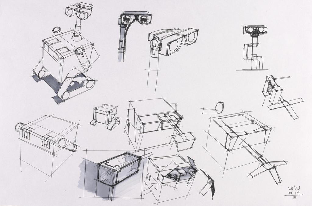 Image - WALL-E concept drawing 8.jpeg   Disney Wiki   FANDOM powered ...