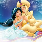 Aladdin and Jasmine Art 2