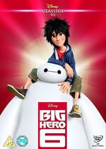 Big Hero 6 UK DVD 2015 Limited Edition slip cover
