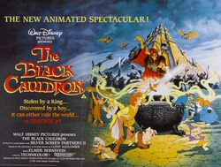 British Poster Black Cauldron