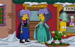 The Simpsons - Patty and Selma as Elsa and Anna