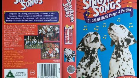 Sing Along Songs - 101 Dalmatians Pongo and Perdita UK VHS (1997)