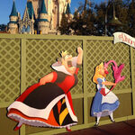 Alice in Wonderland construction wall artwork