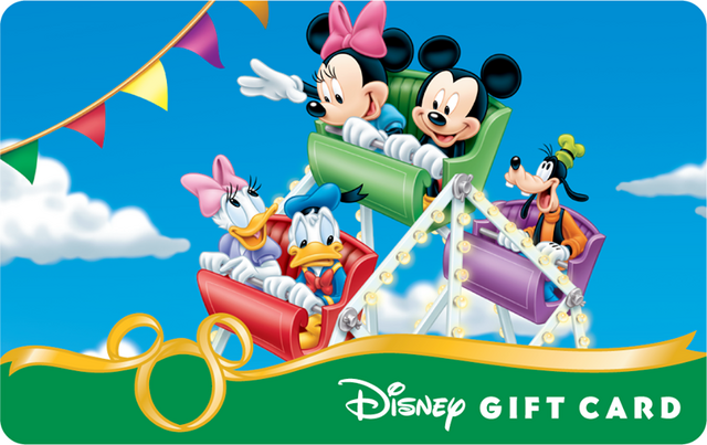 File:Mickey and Friends in the Carosel Disney Gift Card.png