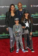 Salli Richardson-Whitfield and family at Zootopia event
