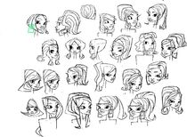 Claire face Concepts by Junpei Takayama
