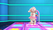 Lambie in a dancing game