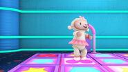 Lambie in a dancing game