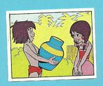 The Jungle Book Mowgli and Shanti card