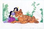 Aladdin-Concept-Art-Rajah-Jasmine