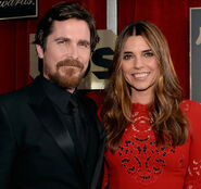 Christian Bale and wife Sibi at SAG awards