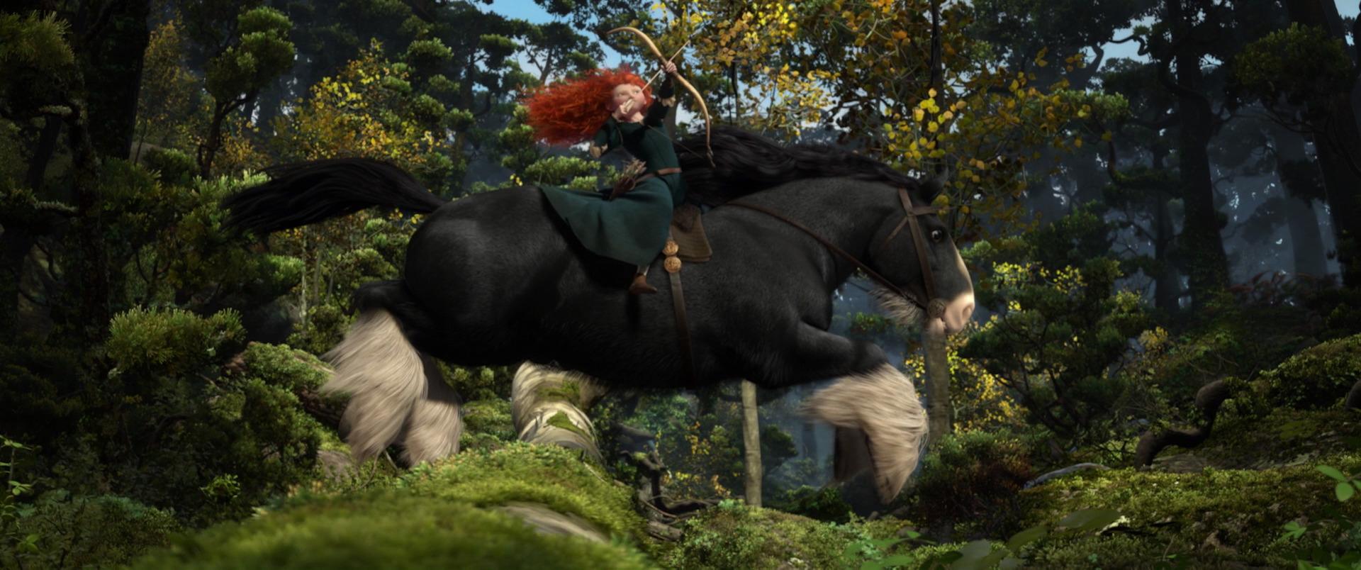 Image result for Merida on horseback shooting arrows
