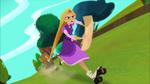 Rapunzel and Feldspar rollerskate