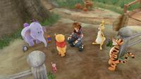 Sora meets Winnie the Pooh and Friends - Kingdom Hearts III
