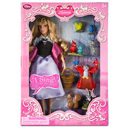 Aurora as Briar Rose Deluxe Singing Doll with Forest Animals Figures Boxed