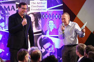 Bob Saget & Gilbert Gottfried speak Scleroderma event