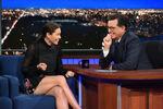 Jessica Biel visit Stephen Colbert