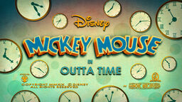 Mickey Mouse Outta Time title card