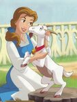 Belle with goat