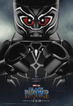 Black Panther LEGO poster