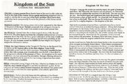 Kingdom of the Sun character breakdown