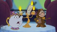 Cogsworth Lumiere and Mrs.Potts in House of Mouse