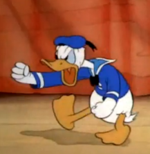 Donald Duck - temper