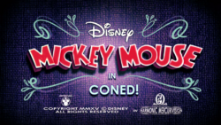 Mickey Mouse Coned title card