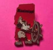 Mickey as Steamboat Willie Mississippi State Character Disney
