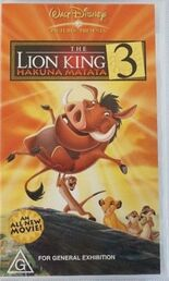 The Lion King 3 2004 AUS VHS