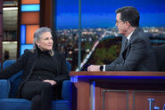 Carrie Fisher visits Stephen Colbert
