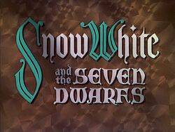 Snow White and the Seven Dwarfs Title Card