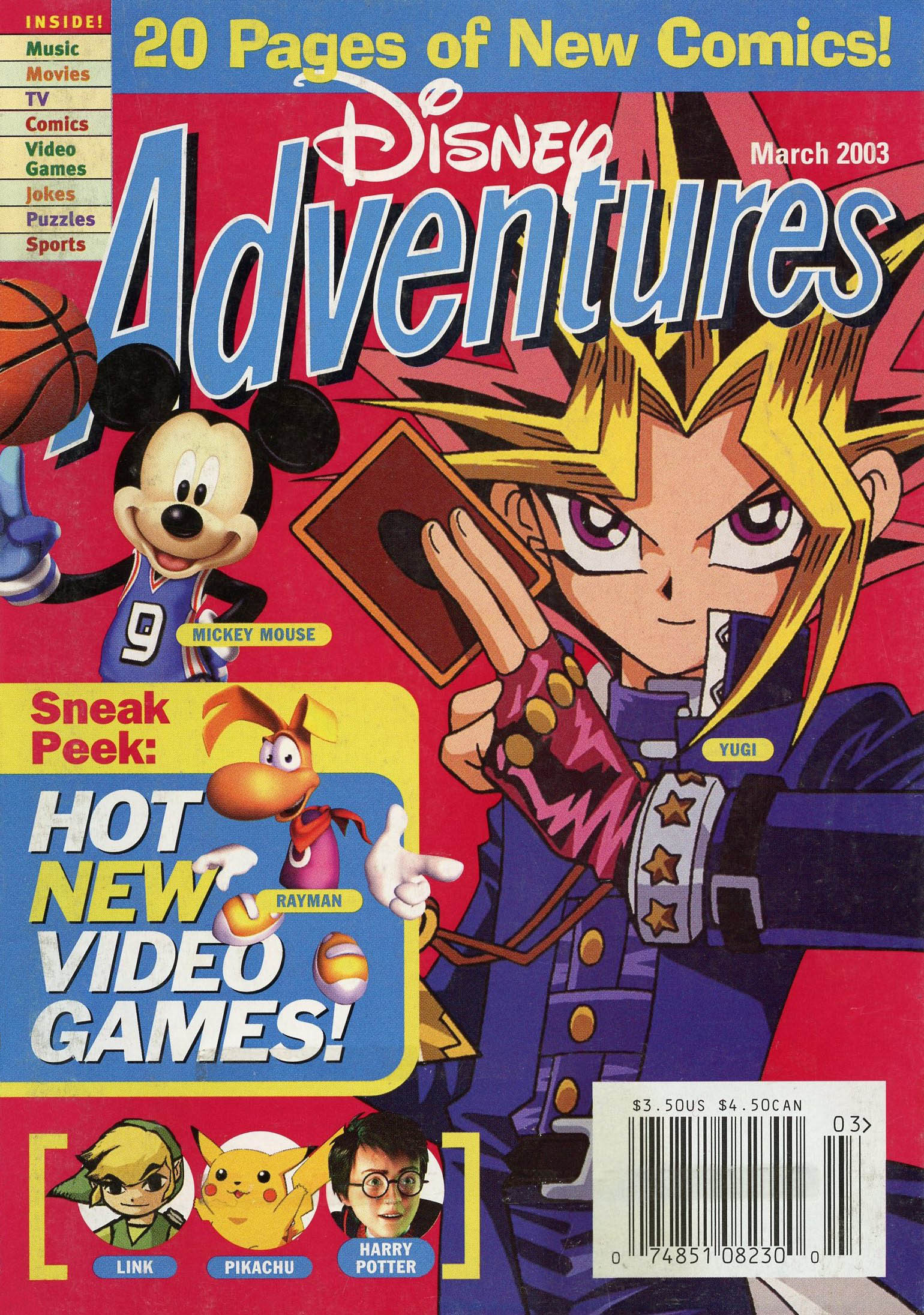 Image - Disney Adventures Magazine cover March 2003 Yu gi oh.jpg  Disney Wiki  FANDOM powered