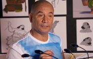 Temuera Morrison behind the scenes Moana