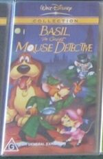 Basil the Great Mouse Detective 2003 AUS VHS