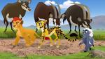 Bupu saying goodbye to the Lion Guard