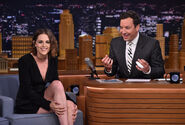 Kristen Stewart visits Jimmy Fallon