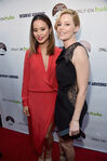 Elizabeth Banks & Jamie Chung at Resident Advisors premiere