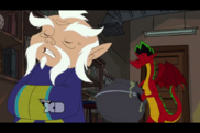 Lao Shi Asks Jake How is His Dragon Tongue Cleaning and Talking at The Same Time
