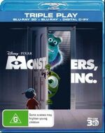 Monsters Inc 2014 AUS Blu Ray 3D Blu Ray and DVD Combo