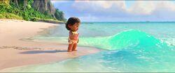 Vaiana am Ozean