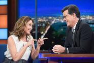 Diane Lane visits Stephen Colbert