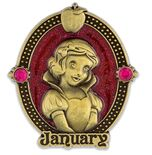 Snow White January Birthstone Pin