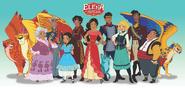 Elena of Avalor 2D cast concept
