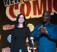 Krysten Ritter & Mike Colter NYCC